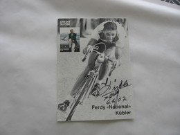 Cyclisme - Autographe - Carte Signée Ferdi Kubler - Cyclisme