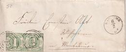 THURN UND TAXIS 1865 LETTRE DE BAD EMS - Tour Et Taxis