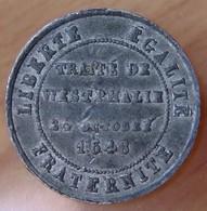 ALSACE - Traité De Westphalie 6 Réunion De L'Alsace à La France 1648 -1848 - Monétaires / De Nécessité