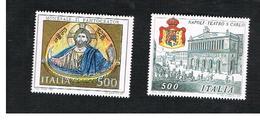 ITALIA - UN.1832.1833   - 1987 PATRIMONIO ARTISTICO ITALIANO  (SERIE COMPLETA DI 2)   -  NUOVI **(MINT) - 6. 1946-.. Repubblica