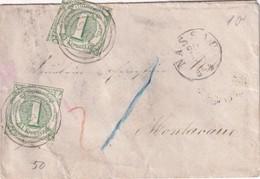 THURN UND TAXIS 1864 LETTRE DE NASSAU - Tour Et Taxis