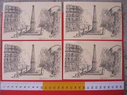 A.09 ITALIA ANNULLO - 1992 TORINO 40 ANNI LIONS CLUB OBELISCO MOTI 1821 RISORGIMENTO FR. CRISTOFORO COLOMBO SERIE 4 CARD - Edificio & Architettura