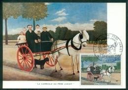 """CM-Carte Maximum Card # 1967-France # Art  Peinture -Painting-Gemälde # """"Carriole Du Père Juniet """" By H. Rousseau ,Laval - Cartes-Maximum"""