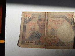 Billet Du Trésor Français De 50 Francs Territoires Occupées - Schatzamt