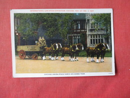 Six Horse Team Chicago Union Stock Yard  1927--------    Ref 3163 - Horses