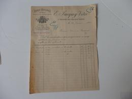 Facture De La Fabrique D'enveloppes En Paille E. Jacquy-Vitu à Saint Memmie-lès-Chalons/Marne (51) - 1800 – 1899