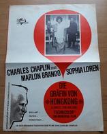"""Sophia LOREN & Marlon BRANDO Im Charles-Chaplin-Film """"Die Gräfin Von Hongkong"""" Altes/großes Kino-Filmprogramm /a177 - Magazines"""