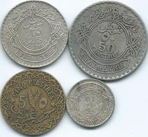 Syria - French - 5 - 1936 (KM70); 10 - 1929 (KM72); 25 - 1936 (KM73) & 50 Piastres - 1929 (KM74) - Syrie