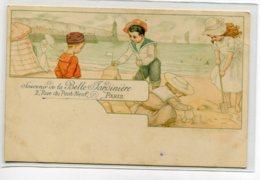 """PUBLICITE """" La Belle Jardiniere """" Jeux Enfants Plage  1900  ART NOUVEAU    D03 2019 - Publicidad"""