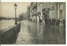 75 - PARIS - INONDATIONS JANVIER 1910 / LE QUAI DE BETHUNE - Paris Flood, 1910