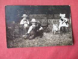 RPPC  3 Children Each With Pet   Dog  & Cat --doll Carriage    -    Ref 3163 - Dogs