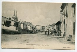 55 FRESNES En WOEVRE Animation Rue De Metz Edit L Marchal - 1905  écrite Timbrée   D03 2019 - Other Municipalities