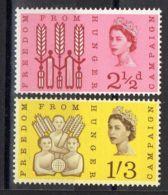 GRANDE  BRETAGNE ( POSTE ) : Y&T  N°  370/371  TIMBRES  NEUFS  SANS  TRACE  DE  CHARNIERE . - 1952-.... (Elizabeth II)