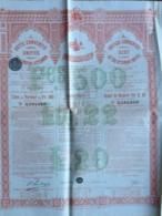 Dette Unifiée De L'Empire Ottoman . Obligation De 500 F . Constantinople , Turquie , 1906 . - Actions & Titres