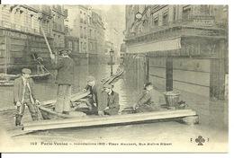 75 - PARIS - INONDATIONS JANVIER 1910 / PLACE MAUBERT - RUE MAITRE ALBERT - De Overstroming Van 1910