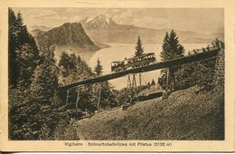 005982  Rigibahn - Schnurtobelbrücke Mit Pilatus - LU Luzern