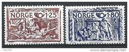 Norvège 1980 N°777/778 Neufs** Norden Artisanat - Norvège