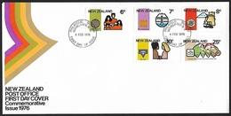 1976 - NEW ZEALAND - FDC + SG 1110/1114 + WANGANUI N.Z. - FDC