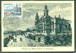 CM-Carte Maximum Card # 1966-Monaco # 100 Years  Monaco #  Casino De Monte-Carlo - Cartas Máxima
