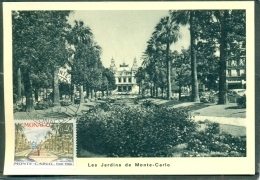 CM-Carte Maximum Card # 1966-Monaco # 100 Years  Monaco #  Jardins De Monte-Carlo - Cartas Máxima