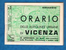 Auto Filovie Tram Bus Vicenza Libretto Linee Orari 1971 - Europe
