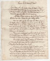 Lettre Tournon An 6 - Manuscrits
