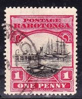 COOK ISLANDS RAROTONGA 1920 1d Black & Carmine-Red SG71 Fine Used - Cook Islands