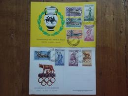 REPUBBLICA - Cartoncino Olimpiadi Roma 1960 - Annullo 1° Giorno + Spese Postali - F.D.C.