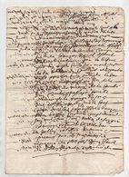 Vieux Papier 1668 - Manuscrits