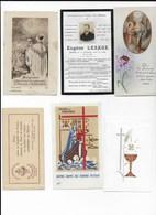 Lot De 6 Images Pieuses - Religion &  Esoterik