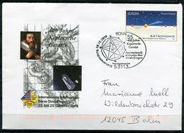 "Germany 2009 Plusbrief Mi.Nr.USo192 Europa-Astronomie""mit ESST""Bonn-400 Jahre Keplersche Gesetze""1 Beleg - Astronomie"