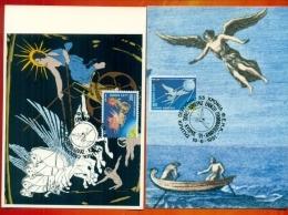 CM-Carte Maximum Card # 1991-Grèce,Greece  # Europa  CEPT # Espace,,Space,Weltraum # Char Du Soleil,Icare (2) - Europa-CEPT