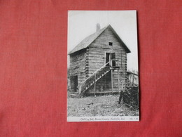Indiana > Nashville  Old Log Jail  Brown County  Has Crease  -    Ref 3164 - Other