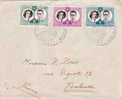 Belgique FDC Yvert Série 1169 à 1171 Mariage Royal Anvers 14/12/1960 - FDC