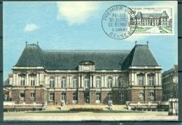 CM-Carte Maximum Card # France-1962 # Tourisme #Architecture # Palais De Justice De Rennes # Rennes - Cartes-Maximum
