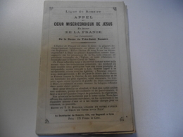 Ligue Du ROSAIRE, Appel Au Cœur Miséricordieux De Jesus, Vers 1880 - Religion & Esotérisme
