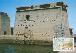 CM-Carte Maximum Card #1987-France# UNESCO#Architecture# Protection Patrimoine # Temple De  Philae, Egypte - Cartes-Maximum