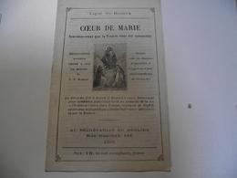 Ligue Du ROSAIRE,  COEUR  DE MARIE, Vers 1880 - Religion & Esotérisme