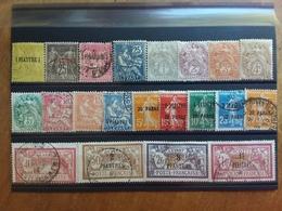 LEVANTE FRANCESE - Lotticino 21 Francobolli Differenti Nuovi */timbrati + Spedizione Prioritaria - Gran Bretagna (vecchie Colonie E Protettorati)