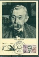 CM-Carte Maximum Card # 1963-France # Célébrités # Littérature #Emile Verhaeren,poète,Dichter,belgian Poet # Rouen - Cartes-Maximum