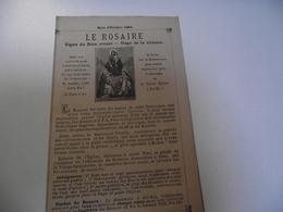 Le ROSAIRE,  Signe Du Dieu Vivant, Octobre 1884 - Religion & Esotérisme
