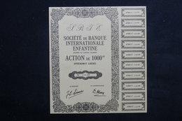 ACTIONS - Action De La Banque Internationale Enfantine - L 22956 - Actions & Titres