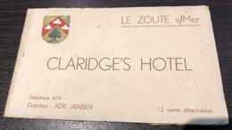 Knokke Knocke  Le Zoute Sur Mer  Claridge's Hotel     Boekje Met 12 Postkaarten  I 5713 - Knokke