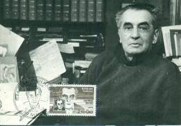 CM-Carte Maximum Card # France-1984 # Personnages Célébres # Jean Paulhan,Écrivain,author,Schriftsteller # Nimes - Cartes-Maximum