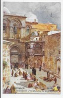 The Holy Land - Jerusalem - The Forecourt Of The Church Of The Holy Sepulcre - Tuck Oilette 7308 - Palestine