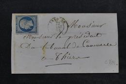 FRANCE - Lettre De Issoire Pour Thiers En 1854 , Affranchissement Napoléon N° 10 - L 22957 - Marcophilie (Lettres)