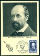 CM-Carte Maximum Card # France-1969 # Célébrités,Celebrity # Musique #Albert Roussel,Compositeur,composer # Tourcoing - Cartes-Maximum