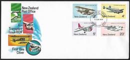 1974 - NEW ZEALAND - FDC + SG 1050/1053 + WELLINGTON N.Z. - FDC