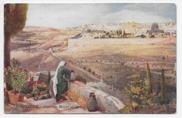 The Holy Land - Jerusalem From The Mount Of Olives - Tuck Oilette 7308 - Palestine