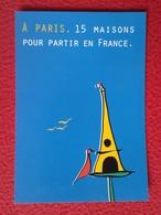 TARJETA TIPO POSTAL POST CARD CARTE POSTALE PUBLICITARIA PUBLICIDAD ADVERTISING PARIS FRANCE TORRE EIFFEL TOUR TOWER VER - Publicidad